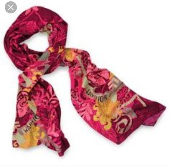 Pink breast cancer scarves